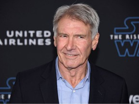 """Harrison Ford attends the premiere of """"Star Wars: The Rise of Skywalker"""" in Los Angeles, California, U.S. December 16, 2019."""