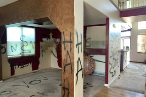 This house up for sale in Colorado Springs, Colo., features graffiti all over the place.