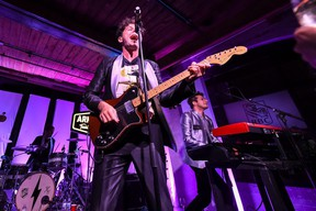 Singer Max Kerman and the Arkells perform at RBC House on September 07, 2019 in Toronto.   The Arkells are among numerous bands restarting Toronto's concert scene this fall