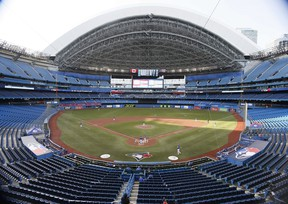 A general view of Rogers Centre during a Toronto Blue Jays intrasquad game.