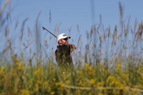 South Africa's Louis Oosthuizen, in action during the second round of the Open Championship on Friday.