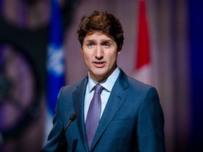 Prime Minister Justin Trudeau holds a press conference on the airline industry in Montreal on July 15, 2021.