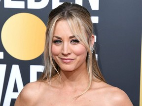 Kaley Cuoco attends the 76th Annual Golden Globe Awards at The Beverly Hilton Hotel in Beverly Hills, Calif., Jan. 6, 2019.