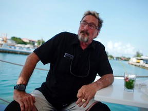 John McAfee, co-founder of McAfee Crypto Team and CEO of Luxcore and founder of McAfee Antivirus, speaks during an interview in Havana, Cuba, July 4, 2019.