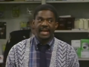 Charlie Robinson in a scene from Night Court.