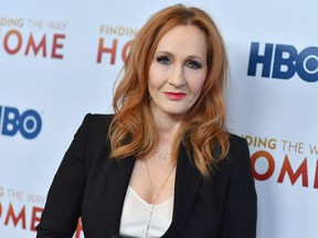 """In this file photo taken on December 11, 2019 British author J. K. Rowling attends HBO's """"Finding The Way"""" world premiere at Hudson Yards in New York City."""