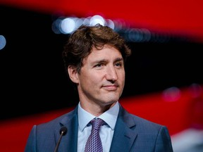 Canadian Prime Minister Justin Trudeau holds a press conference on the airline industry in Montreal, Quebec on July 15, 2021.