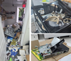Images released by the Ahmadiyya Muslim Jama'at Canada of vandalism committed at the Baitul Kareem Mosque in Cambridge.