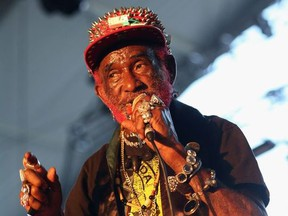 """Musician Lee """"Scratch"""" Perry performs onstage during day 1 of the 2013 Coachella Valley Music & Arts Festival at the Empire Polo Club on April 12, 2013 in Indio, California."""
