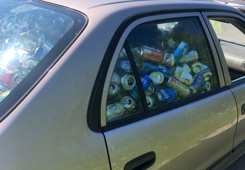 RUNNING ON EMPTIES: OPP stops car full to brim with beer cans