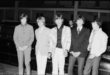 The Rolling Stones backstage before their concert at the Forum in Vancouver July 19, 1966. L-R, Charlie Watts, Brian Jones, Mick Jagger, Keith Richards and Bill Wyman.