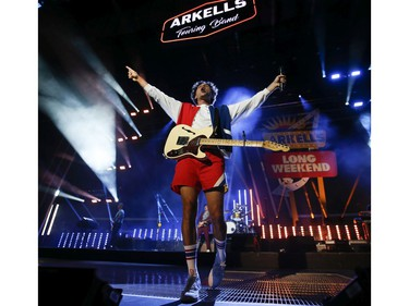 The Arkells, with frontman Max Kerman, played the Budweiser Stage as live music returned to Toronto with a full house of 10,500 in attendance and in support of their new album Blink Once .  Toronto, Ont. on Friday August 13, 2021. Jack Boland/Toronto Sun/Postmedia Network