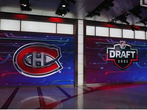 With the 31st pick in the 2021 NHL Entry Draft, the Montreal Canadiens select Logan Mailloux  during the first round of the 2021 NHL Entry Draft at the NHL Network studios on July 23, 2021 in Secaucus, New Jersey.