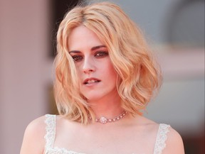 Kristen Stewart attends the red carpet of the movie Spencer during the 78th Venice International Film Festival.