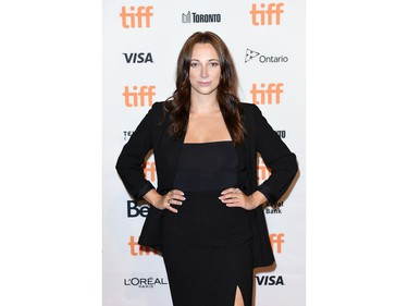 """Bianca Rusu attends """"The Middle Man"""" Photo Call during the 2021 Toronto International Film Festival at TIFF Bell Lightbox on September 12, 2021 in Toronto, Ontario."""