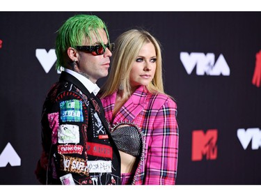 NEW YORK, NEW YORK - SEPTEMBER 12: (L-R) Mod Sun and Avril Lavigne attend the 2021 MTV Video Music Awards at Barclays Center on September 12, 2021 in the Brooklyn borough of New York City.