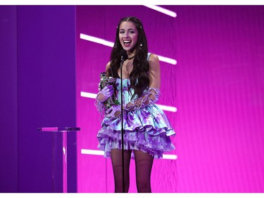 Olivia Rodrigo accepts award for Song Of The Year onstage during the 2021 MTV Video Music Awards at Barclays Center on September 12, 2021 in the Brooklyn borough of New York City.