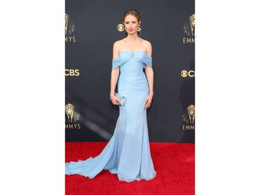 Caitlin Thompson arrives at the 73rd Primetime Emmy Awards in Los Angeles, Sept. 19, 2021.