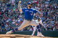 Blue Jays starting pitcher Alek Manoah delivers a pitch against the Twins at Target Field on Sunday, Sept. 26, 2021.