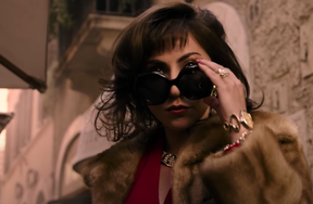 Lady Gaga in a scene from House of Gucci.