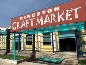 The entrance to the Kingston Craft Market is seen amid the coronavirus pandemic, in Kingston, Jamaica, Thursday, Sept. 2, 2021.