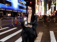 """Sonya Tayeh, winner of the award for Best Choreography for """"Moulin Rouge! The Musical,"""" poses outside during the 74th Annual Tony Awards at Winter Garden Theatre in New York City, Sunday, Sept. 26, 2021."""
