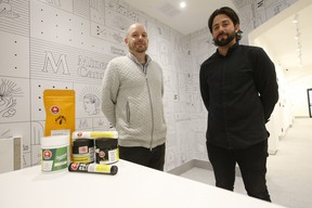 Minerva Cannabis on Bathurst St. and Dupont is set to open in early October. Byron Fabricius (L) the general manager and Paul Macchiusi (R) its president are set to open their boutique style high-end looking store soon.