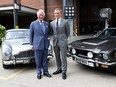 Prince Charles poses with actor Daniel Craig as he tours the set of the 25th James Bond Film at Pinewood Studios in Iver Heath, Buckinghamshire, Britain June 20, 2019.
