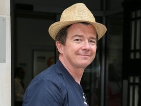 Singer Rick Astley leaving BBC Radio Two Studios after performing on Chris Evans Breakfast show in London, July 20, 2018.
