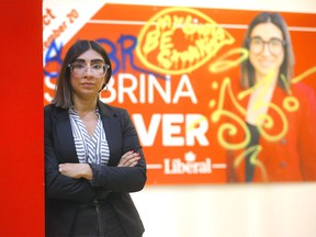 Liberal candidate Sabrina Grover is not happy to hear a couple of her volunteers were assaulted campaigning in Calgary Centre in Calgary on Tuesday, September 7, 2021.