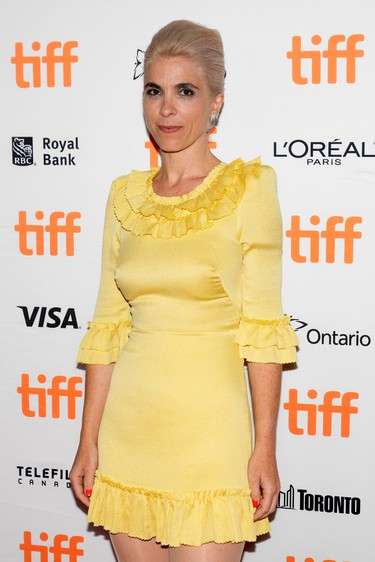 Director Eva Husson arrives for the premiere of the period drama Mothering Sunday at the Toronto International Film Festival, Sept. 9, 2021.