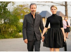Director Denis Villeneuve and his wife Tanya Lapointe arrive for the premiere of