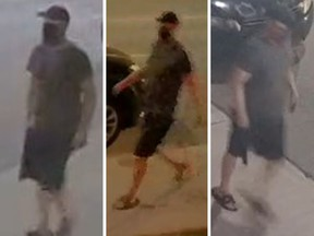 CCTV images of a man police say is responsible for hate-motivated graffiti around Toronto.