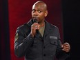 Dave Chappelle performs to a sold out crowd onstage at the Hollywood Palladium on March 25, 2016 in Los Angeles.