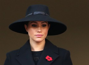 Meghan, Duchess of Sussex attends the annual Remembrance Sunday memorial at The Cenotaph on November 10, 2019 in London, England.