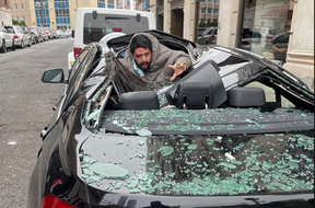 A parked BMW broke the fall of a 31 year old man who jumped out a ninth storey window of a New Jersey building — and survived.