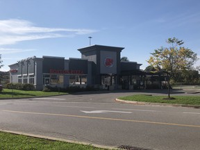 Toronto Police Homicide Unit are investigating the shooting death of man that occurred late Wednesday in the parking lot beside this Boston Pizza on Cinemart Dr. in Scarborough, on Thursday, October 14, 2021.