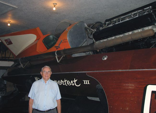 Jim Thompson was the owner and designer of Miss Supertest III, the famous speedboat that first won the Harmsworth Trophy in 1959. (BRUCE URQUHART Sentinel-Review)