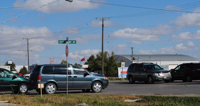 The South Railway - Hwy 32 intersection is the busiest by far.
