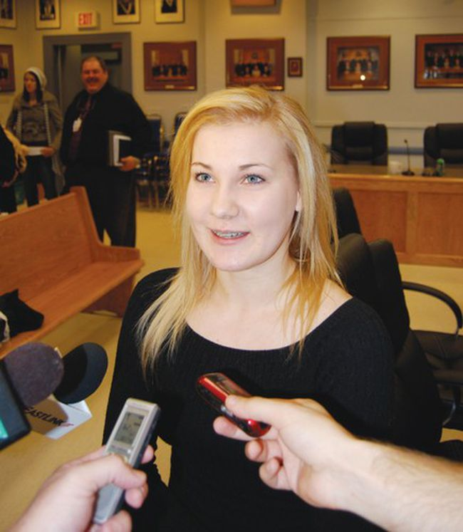 Cadence Hayes was among the group of Timmins students who convinced city council to ban smoking in outdoor areas.