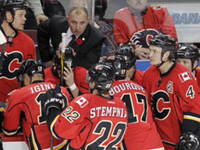 Brent Sutter's Calgary Flames need to improve their work ethic to get their game -- and wins -- up in the NHL standings. (Stuart Dryden/Calgary Sun)