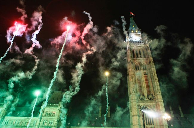 Prime Minister Stephan Harper took part in the Christmas Lights Across Canada Illumination Ceremony on Parliament Hill, in Ottawa, in 2010. Chris Roussakis/QMI Agency