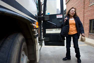 Residents of Slave Lake depart from Concordia University College on a bus tour of the fire-ravaged town in Edmonton on Monday, May 23, 2011. (CODIE MCLACHLAN/EDMONTON SUN)
