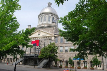 National Historic Site: Bonsecours Market. Province: Quebec. Year recognized: 1984. Quick fact: The mid 19th-century civic building in Montreal closed in 1963 as a farmer's central market and was slated for demolition. Today, the market is multi-purpose facility. (Shutterstock)