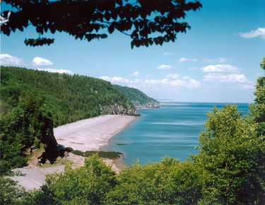 Bay of Fundy, N.B.: There is plenty to discover in the Bay of Fundy area. Hike the Fundy Trail for amazing coastal views and stop by the pot-shaped Hopewell Rocks to see the world's highest tides come in. (Courtesy of Fundy Trail)