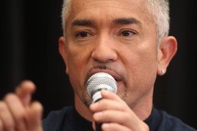 Dog Whisperer Cesar Millan appeared at several Canadian Tire locations in Winnipeg on Wednesday, Nov. 3, 2011, to promote dog-related products he is selling through the chain. This photo was made at the Vermillion Road location. (Chris Procaylo, Winnipeg Sun