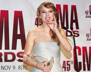 Taylor Swift, who was one of the big winners at the American Music Awards and the Country Music Awards shows in recent weeks, is one of the headliners for the 2012 Capital Hoedown. (File photo)