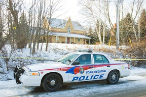 Scene of a homicide at Sideroad 17 and Dufferin St. in King Township on Tuesday January 3, 2012. A son is charged with his mom's murder. (Ernest Doroszuk/Toronto Sun)