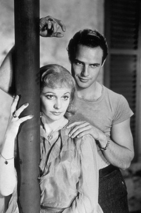 """Actor Marlon Brando portrays Stanley Kowalski in the 1951 film """"A Streetcar Named Desire"""" in a scene from the film with co-star Vivien Leigh. (Turner Classic Movies/Handout)"""