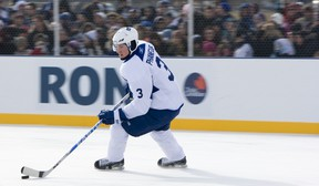 Dion Phaneuf should recover from a bruised jaw in time to face the Red Wings.